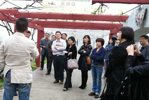 图1:江山市领导前来杭州秀山美地农庄考察调研