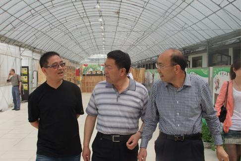 图3:新疆自治区领导莅临秀山美地农业园区考察