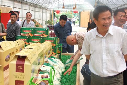 图4:新疆自治区领导莅临秀山美地农业园区考察