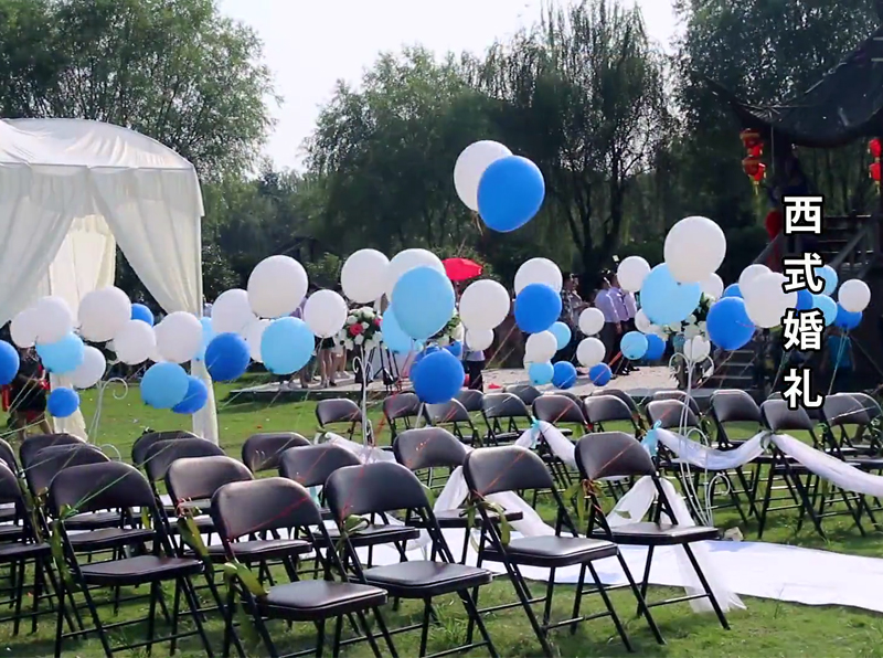 图1:秀山美地农庄婚庆活动 西式婚礼现场布置